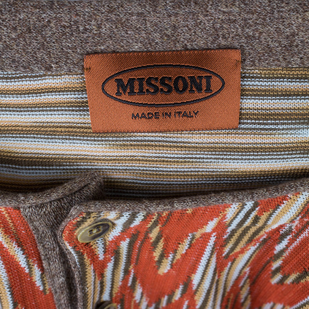 Missoni Men's Multiprint Crewneck Knit Shirt L