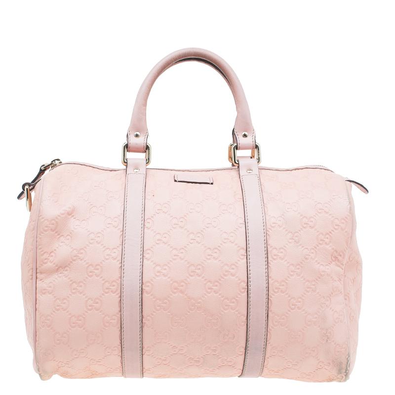 Gucci Pink Guccissima Leather Medium Joy Boston Bag Nextprev Prevnext