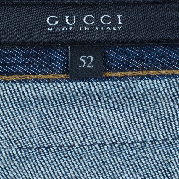 Gucci Men's Blue Super Stonewashed Denim Jeans L