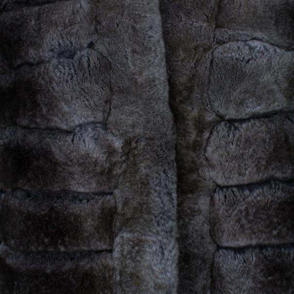 Armani Collezioni Grey Fur Jacket L