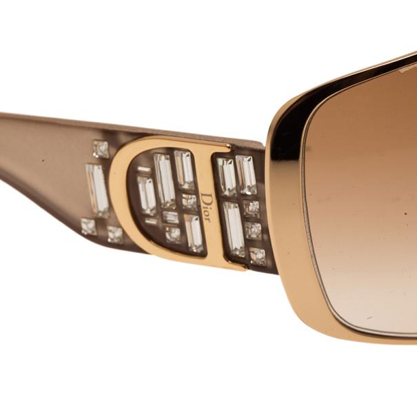 Dior Gold Indinight 1 Oversied Square Sunglasses