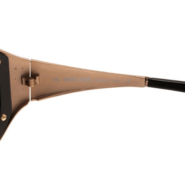 Roberto Cavalli Black and Gold Antigone Sunglasses