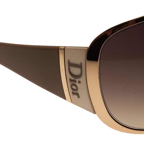 Dior Gold Subdior 1 Oversized Aviators