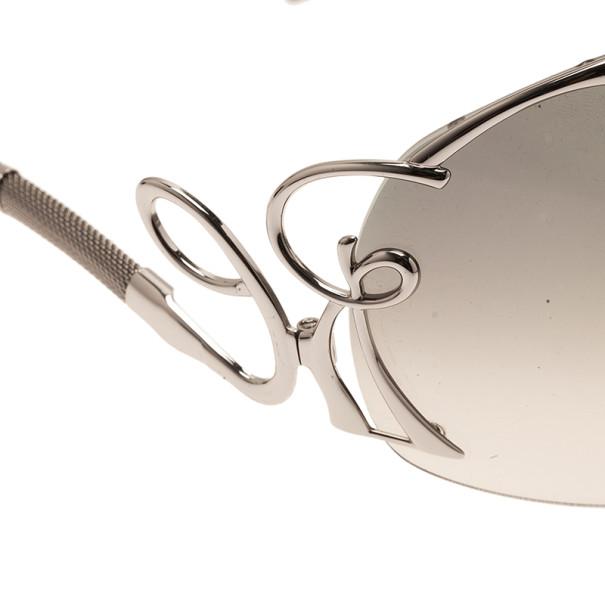 Roberto Cavalli Silver Lacedemone Shield Sunglasses