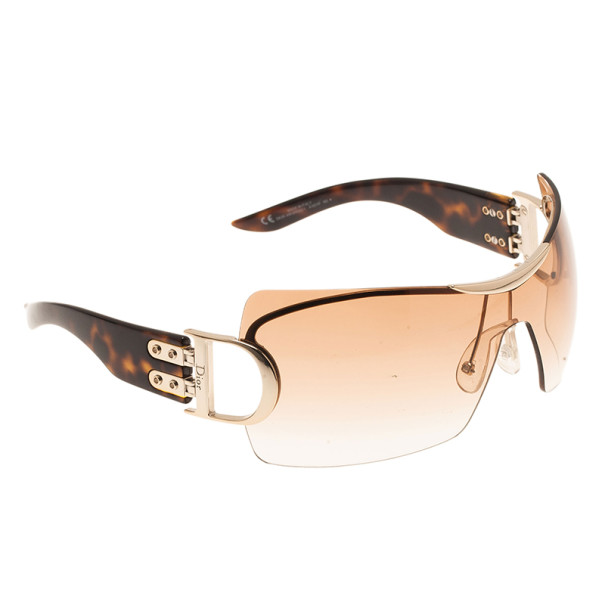 Dior Tortoise Frame Airspeed 1 Shield Sunglasses