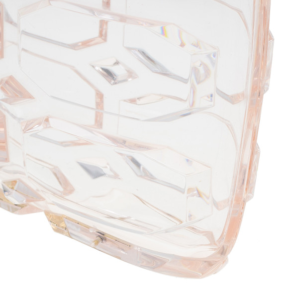 Gucci Clear PVC Aristographic Perspex Clutch