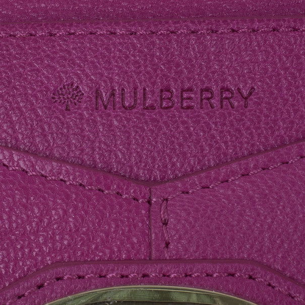 Mulberry Purple Leather Envelope Wallet