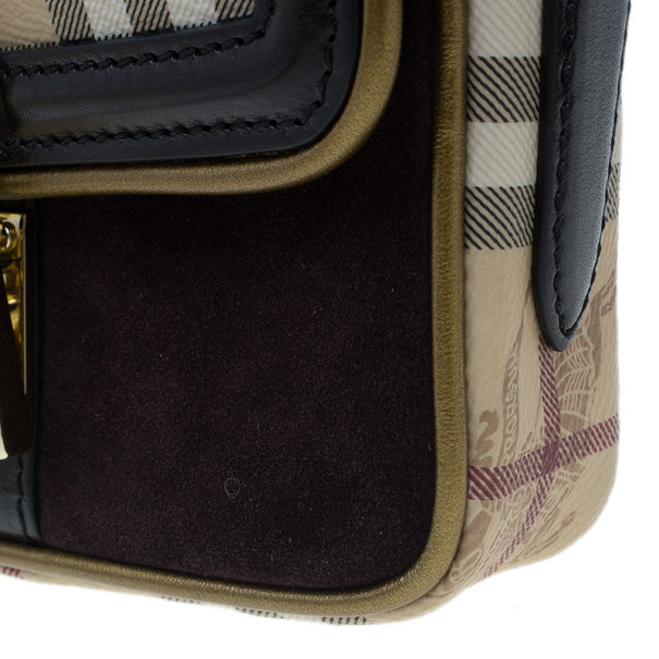 Burberry Nova Check Berkeley Crossbody Shoulder Bag