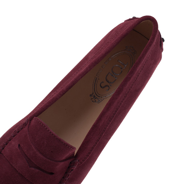 Tod's Purple Suede Penny Loafers Size 39.5