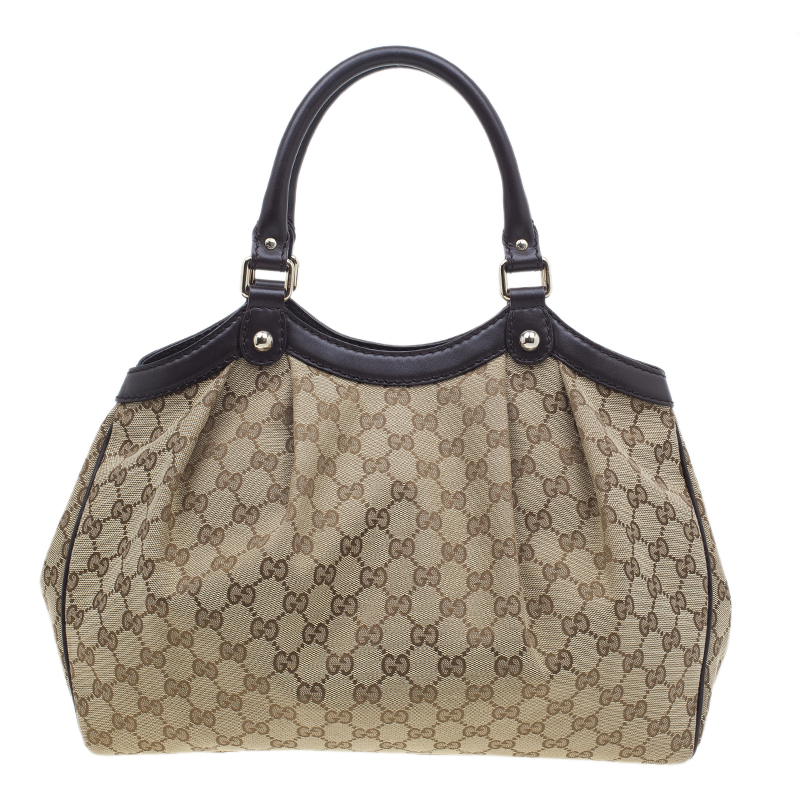 Gucci Brown Sukey Medium Original GG Canvas Tote
