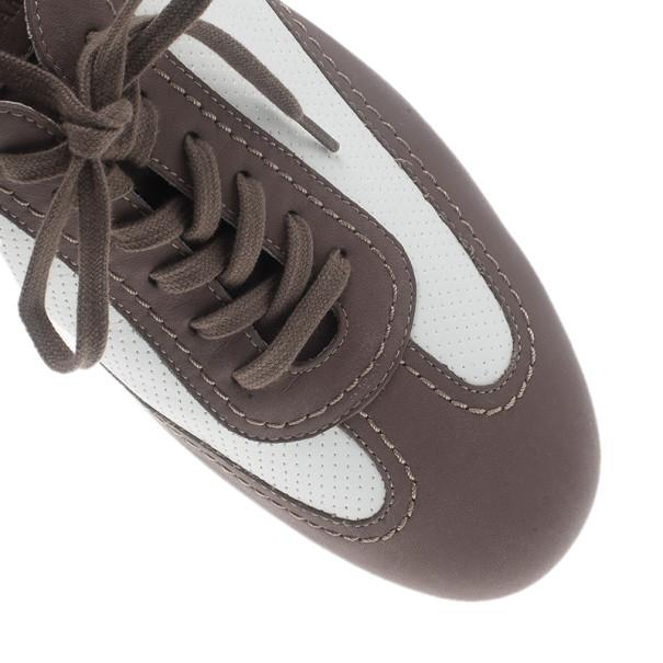 Giorgio Armani Two-Tone Leather Sneakers Size 42