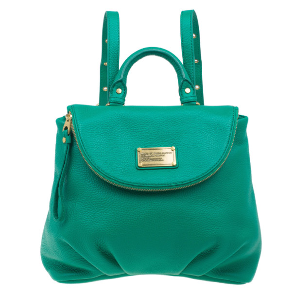 Marc by Marc Jacobs Green Classic Q Mariska Leather Backpack