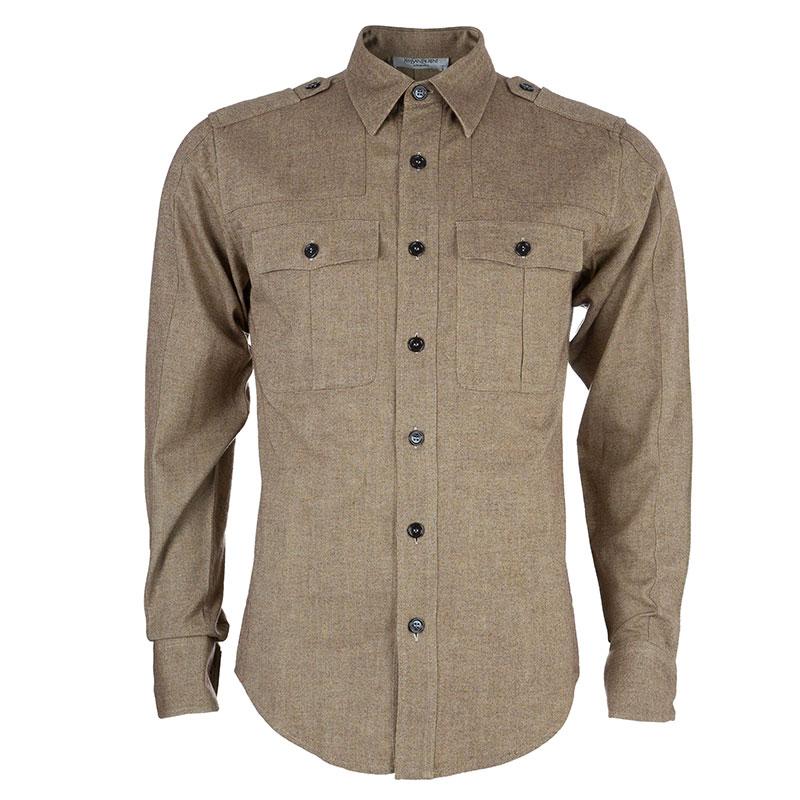 Saint Laurent Paris Men's Paris Beige Shirt S