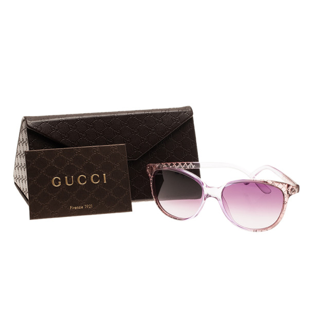 Gucci Purple GG 3363 Cat Eye Sunglasses