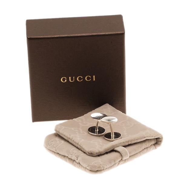 Gucci GG Sterling Silver Cufflinks