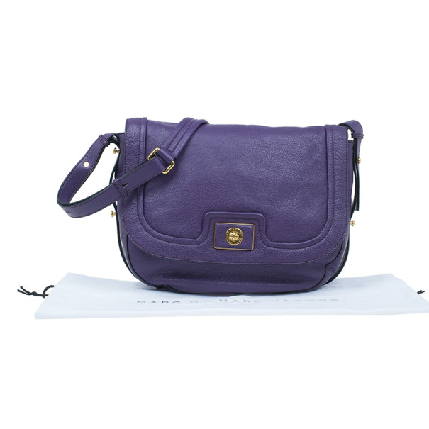 Marc by Marc Jacobs Pansy Purple Revolution Messenger Bag
