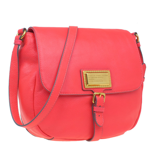 Marc by Marc Jacobs Pink Leather Diva Crossbody