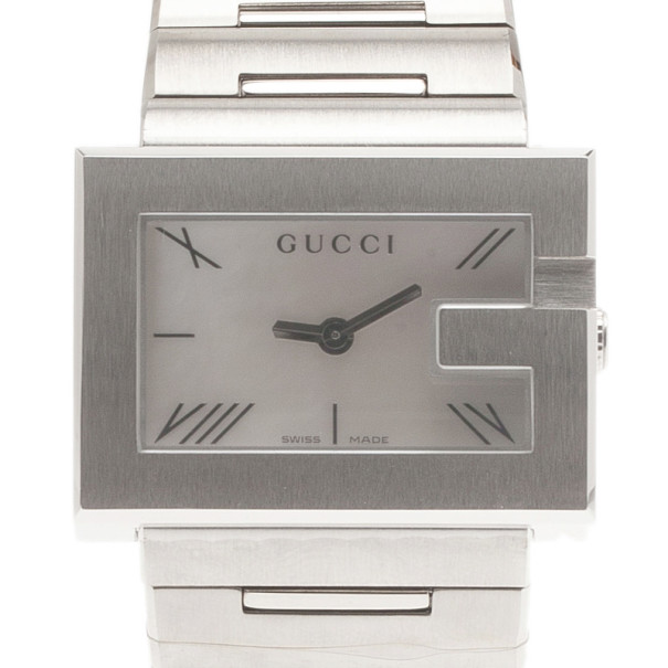 Gucci Mother of Pearl Stainless Steel Classic Wristwatch 30MM