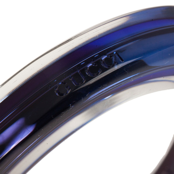 Gucci Metal and Plexiglass Blue Thin Bangle 18.5CM