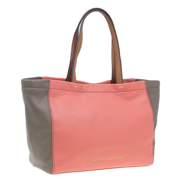 Marc by Marc Jacobs Rose Leather What's The T Two-Tone Tote