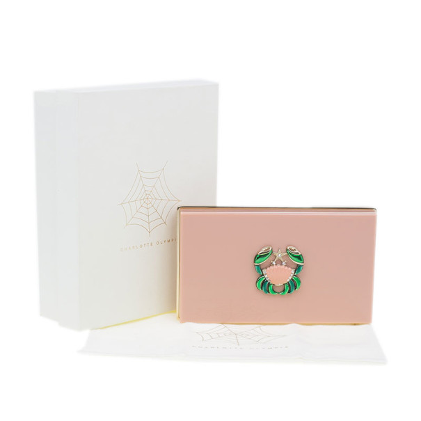 Charlotte Olympia Pink Zodiac Pandora Cancer Clutch