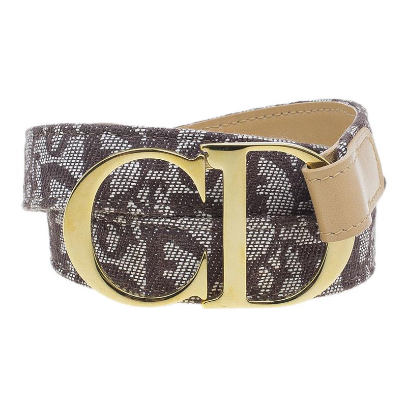 Dior Brown Diorissimo CD Buckle Belt 85 CM