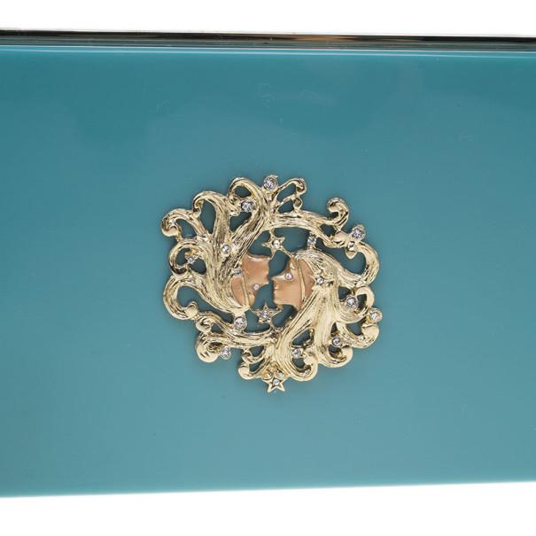Charlotte Olympia Turquoise Zodiac Pandora Gemini Clutch