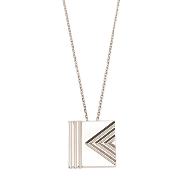 Kenzo Sterling Silver Pendant Necklace