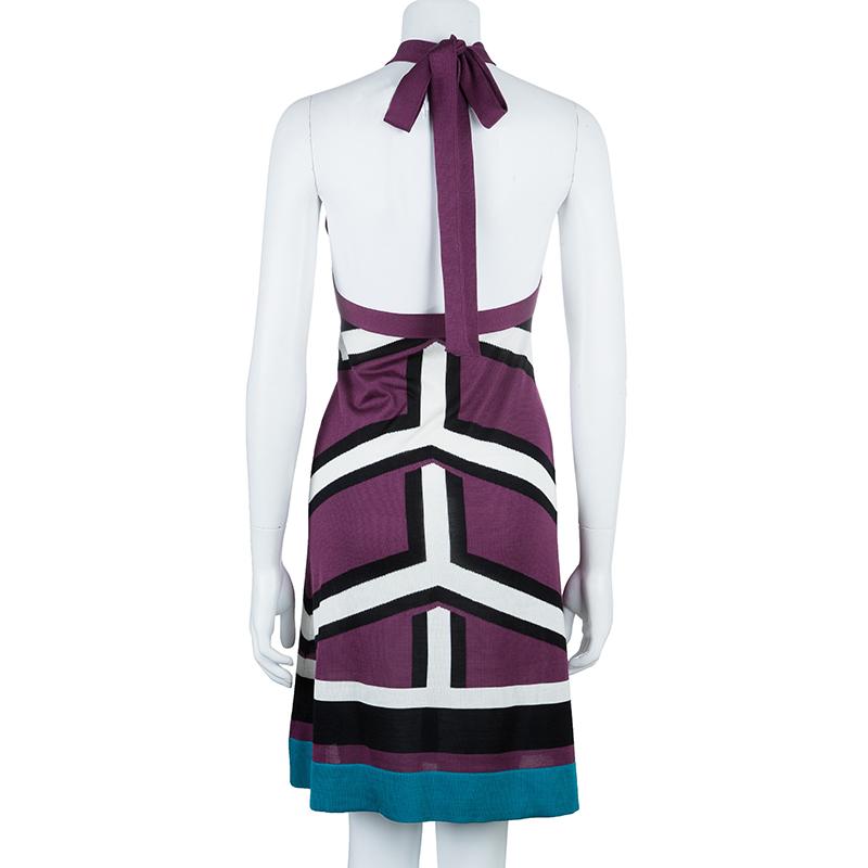 Balenciaga Geometrical Print Dress M