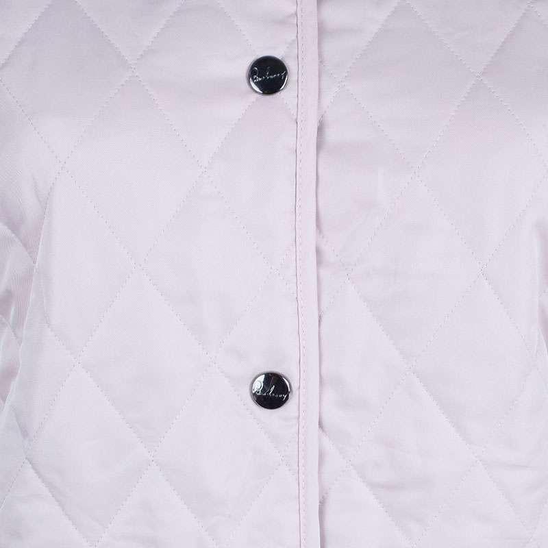 Burberry Nude/Pink Diamond Quilted Jacket L