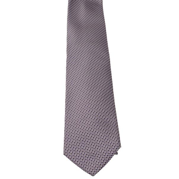 Gucci Purple Printed Silk Tie