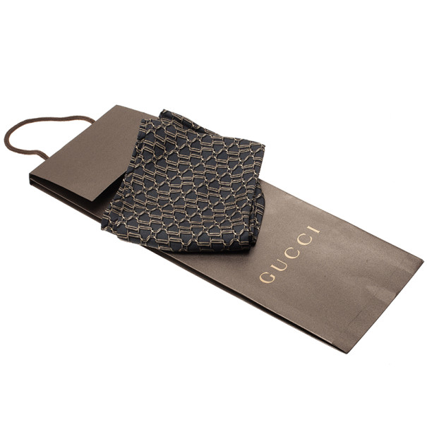 Gucci Grey Printed Scarf