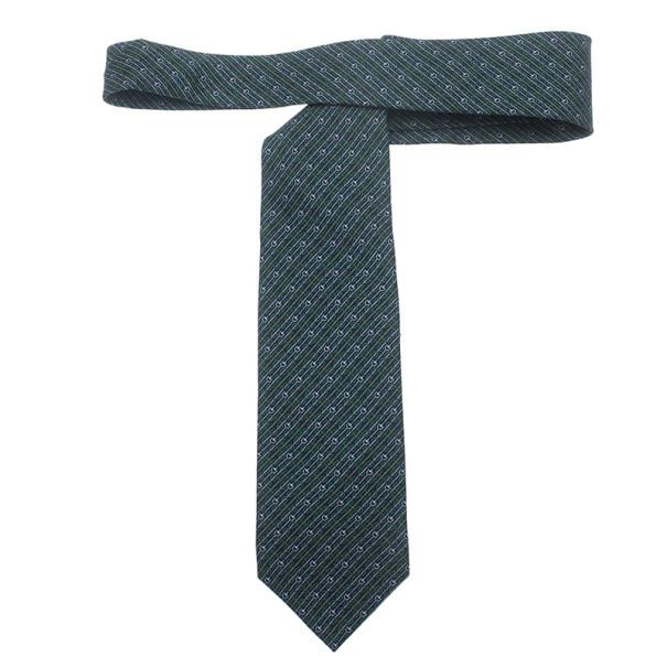 Gucci Blue Polka Dot Striped Silk Tie