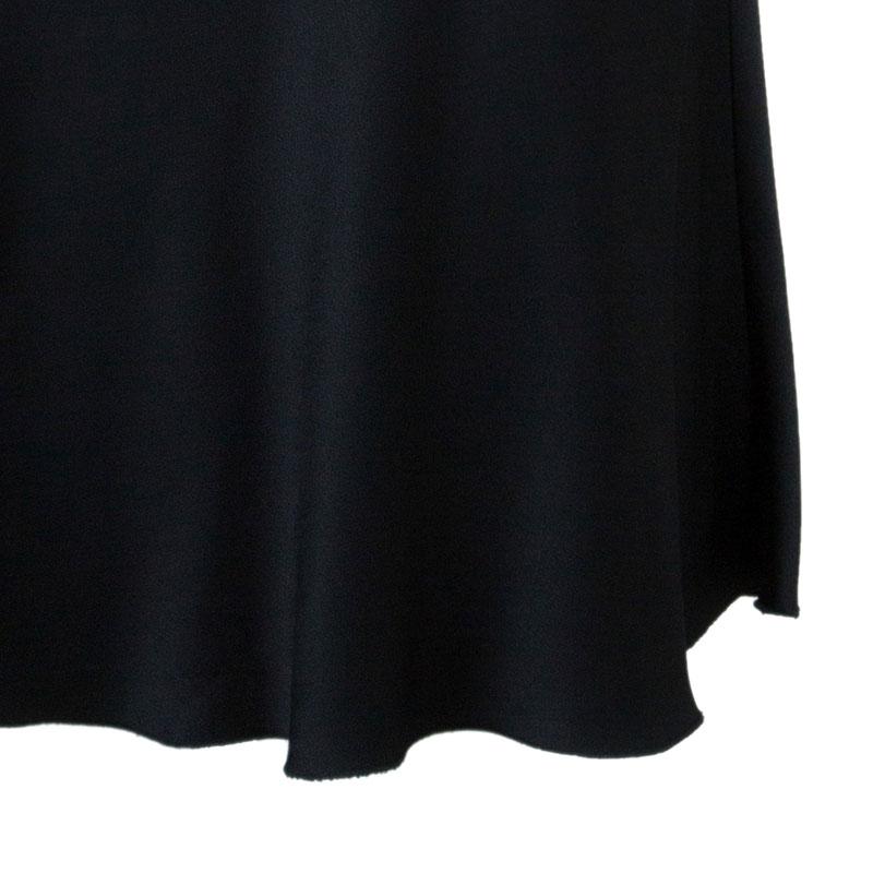 Armani Collezioni Black Satin Sleeveless Dress M