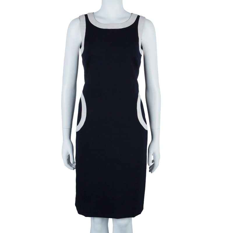 Tory Burch Navy White Shift Dress S