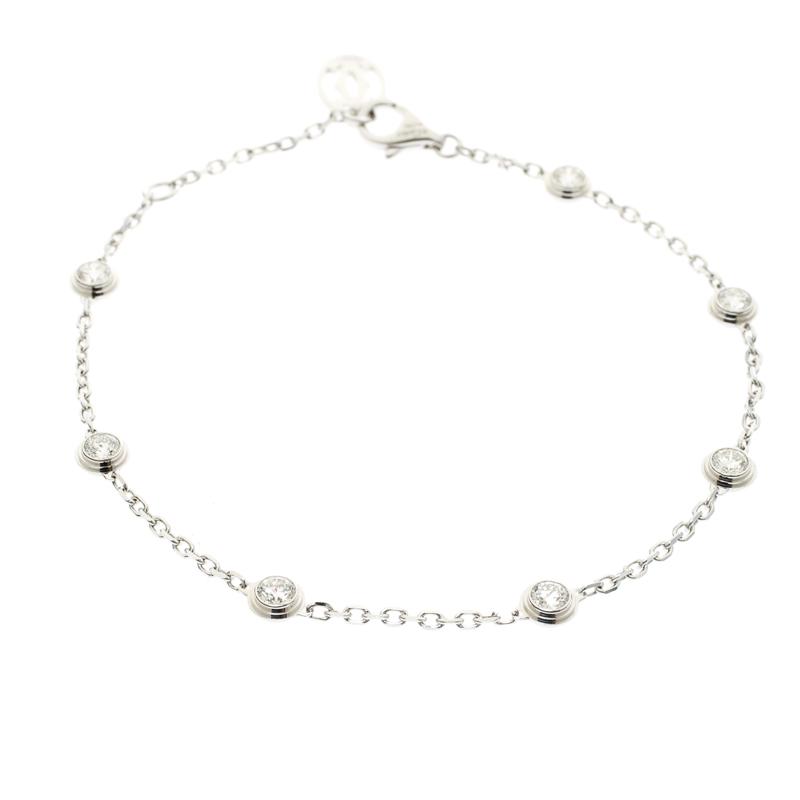 Купить со скидкой Cartier Diamants Legers de Cartier 7 Diamonds 18k White Gold Bracelet