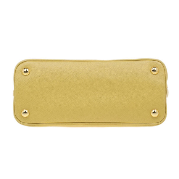 Prada Yellow Small Saffiano Promenade Bag