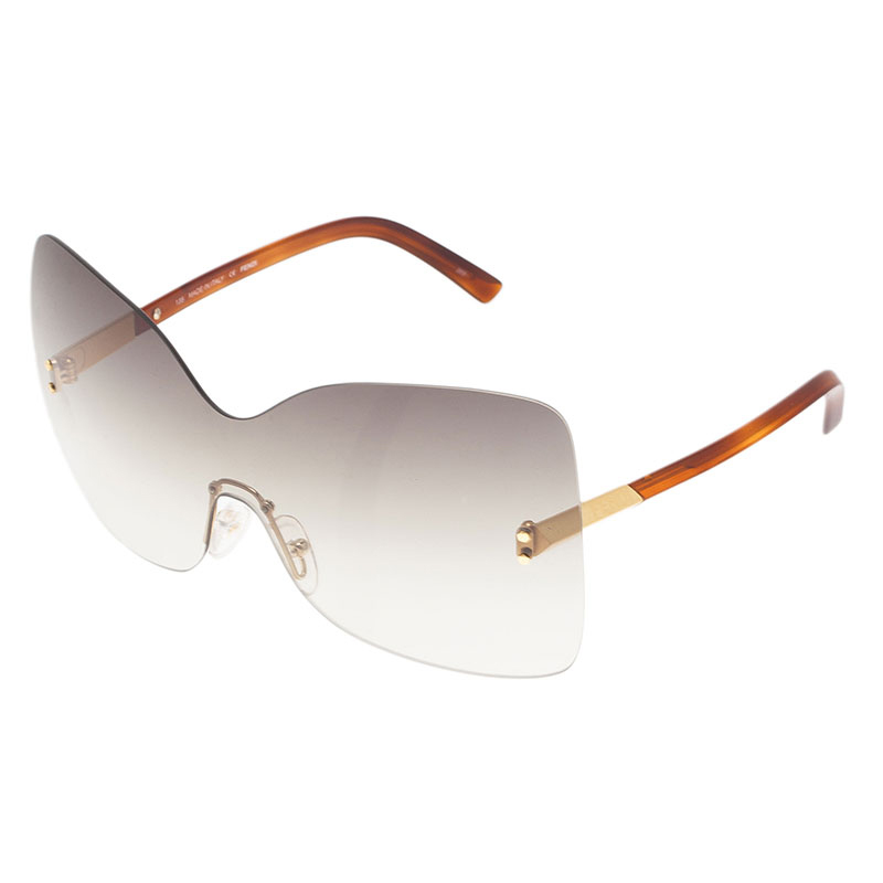 Fendi Brown 5273  Oversized Square Limited Edition Sunglasses