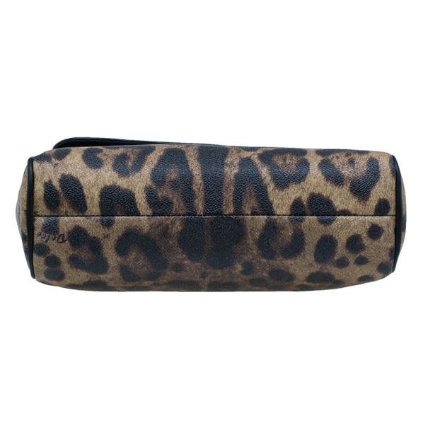 Dolce and Gabbana Leopard Print Leather Small Miss Sicily Tote
