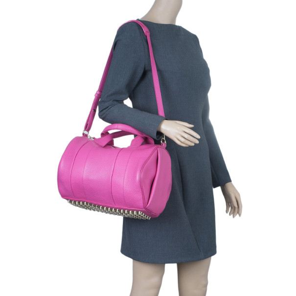 Alexander Wang Flamingo Leather Rocco Large Bag