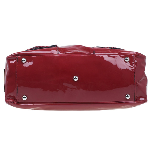 Valentino Red Patent Histoire Framed Bag