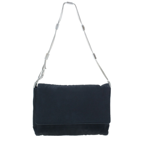 Versace Black Satin Small Bag