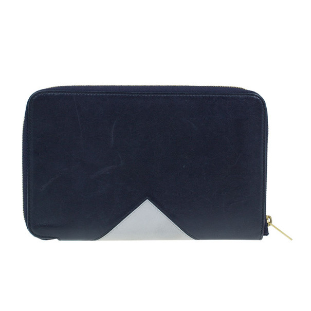 Celine Bi Colour Large Zip Around Wallet