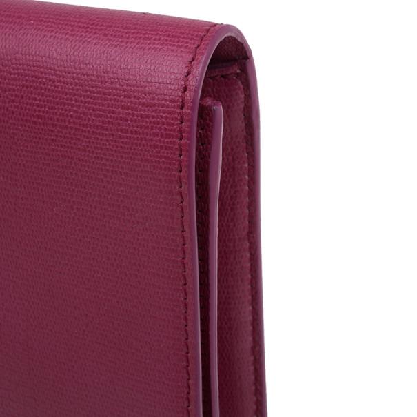 Saint Laurent Paris Pink Leather Large CHYC Clutch