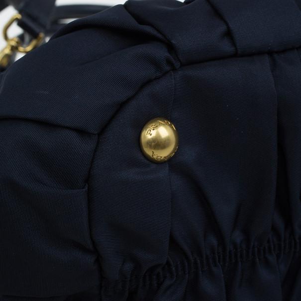 Prada Navy Blue Nylon Tessuto Gaufre Tote