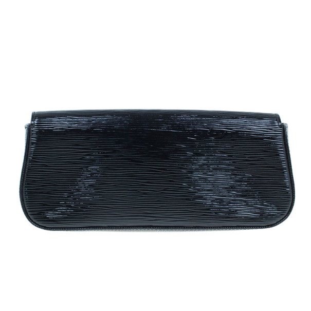 Louis Vuitton Black Epi Sobe Clutch