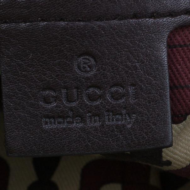 Gucci Brown Guccissima Hysteria Clutch
