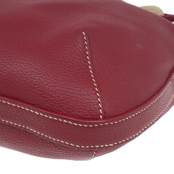 Prada Red Leather Hobo