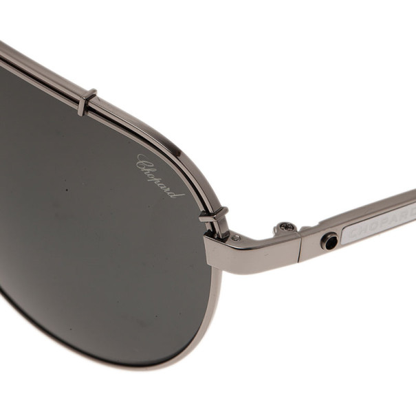 Chopard Grey and Black SCHA12M Polarized Aviators