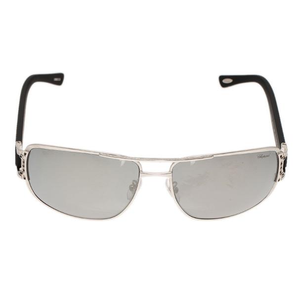 Chopard Silver and Black SCH905 Polarized Sunglasses